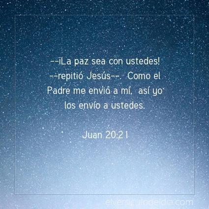 Imagen El versiculo del dia Juan 20:21