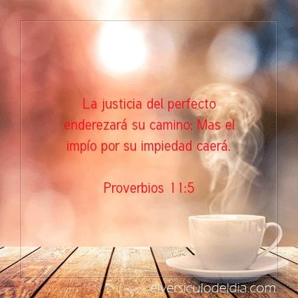 Imagen El versiculo del dia Proverbios 11:5