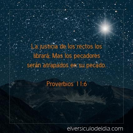 Imagen El versiculo del dia Proverbios 11:6