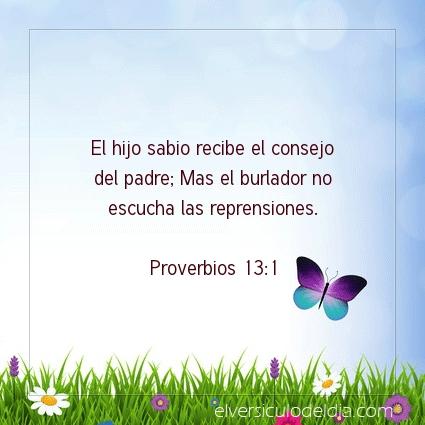 Imagen El versiculo del dia Proverbios 13:1