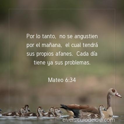 Imagen El versiculo del dia Mateo 6:34