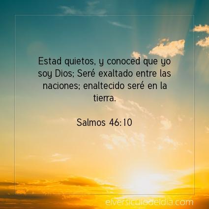 Imagen El versiculo del dia Salmos 46:10