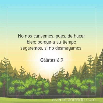 Imagen El versiculo del dia Gálatas 6:9