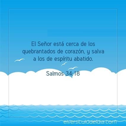 Imagen El versiculo del dia Salmos 34:18