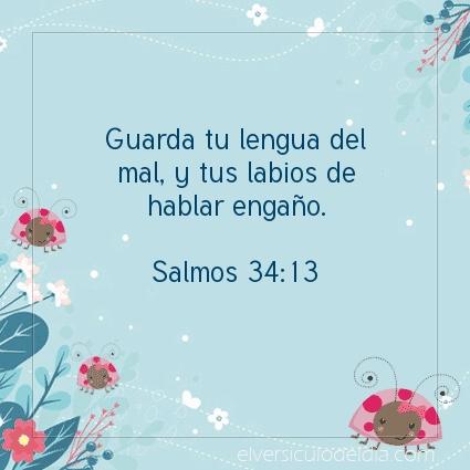 Imagen El versiculo del dia Salmos 34:13