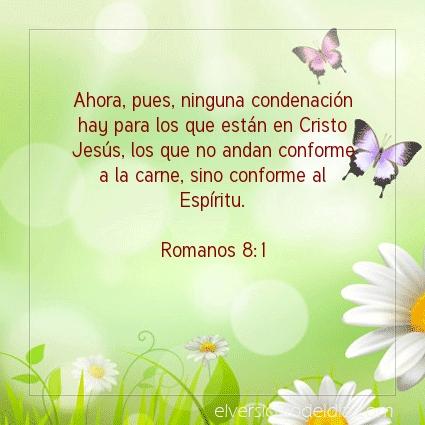 Imagen El versiculo del dia Romanos 8:1