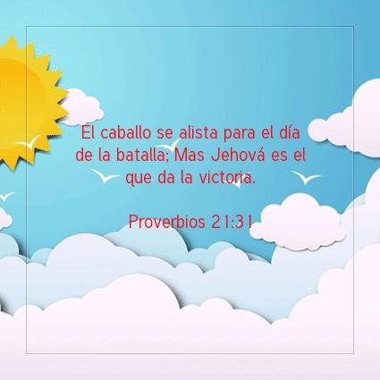 Imagen El versiculo del dia Proverbios 21:31
