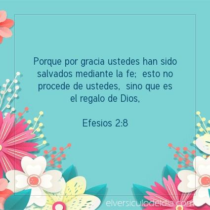 Imagen El versiculo del dia Efesios 2:8
