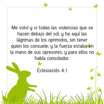 Imagen El versiculo del dia Eclesiastés 4:1