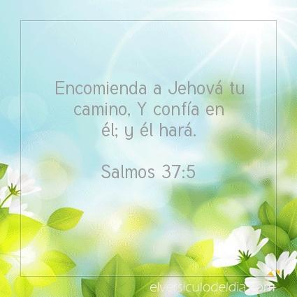 Imagen El versiculo del dia Salmos 37:5