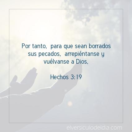 Imagen El versiculo del dia Hechos 3:19