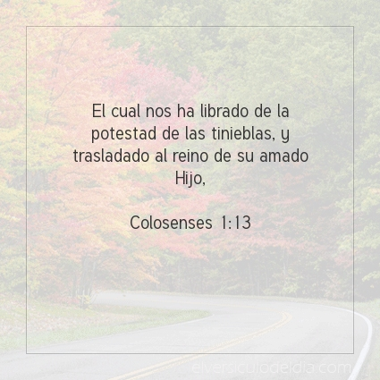 Imagen El versiculo del dia Colosenses 1:13