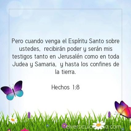 Imagen El versiculo del dia Hechos 1:8
