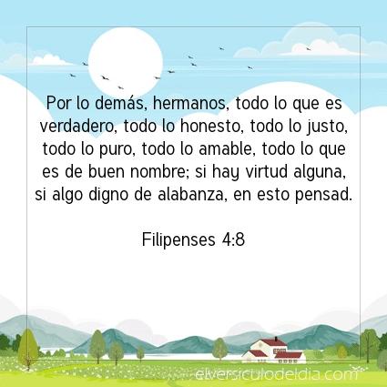 Imagen El versiculo del dia Filipenses 4:8
