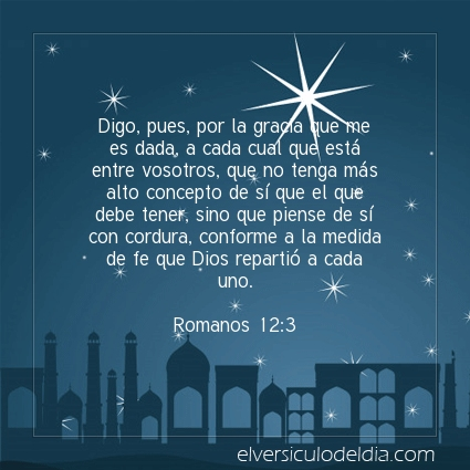 Imagen El versiculo del dia Romanos 12:3