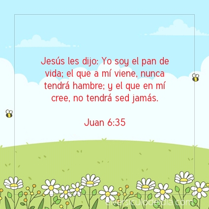 Imagen El versiculo del dia Juan 6:35