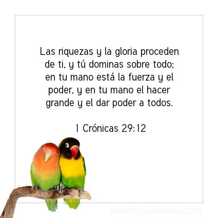 Imagen El versiculo del dia 1 Crónicas 29:12