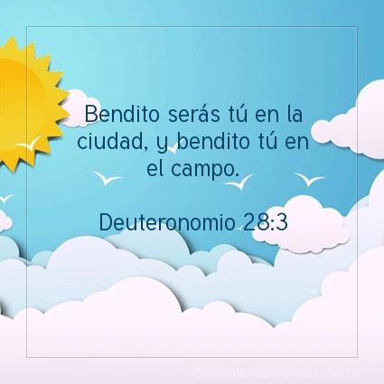 Imagen El versiculo del dia Deuteronomio 28:3