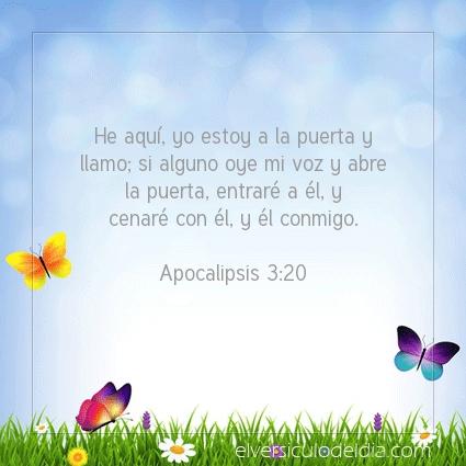 Imagen El versiculo del dia Apocalipsis 3:20