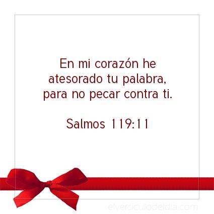 Imagen El versiculo del dia Salmos 119:11