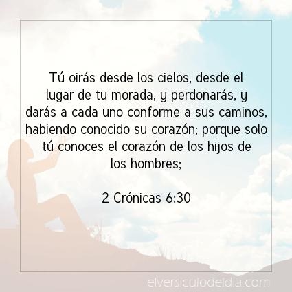Imagen El versiculo del dia 2 Crónicas 6:30