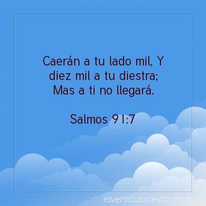Imagen El versiculo del dia Salmos 91:7