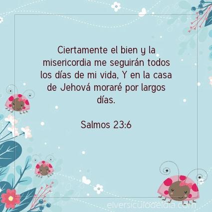 Imagen El versiculo del dia Salmos 23:6