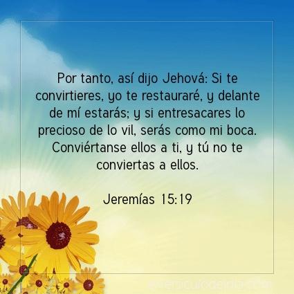 Imagen El versiculo del dia Jeremías 15:19