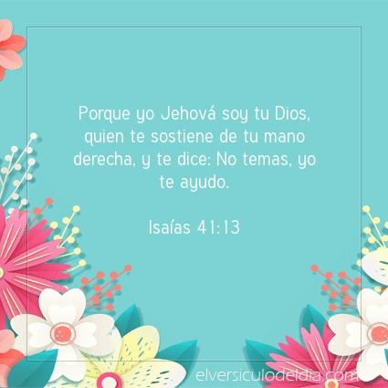 Imagen El versiculo del dia Isaías 41:13
