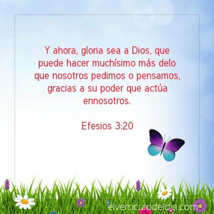 Imagen El versiculo del dia Efesios 3:20