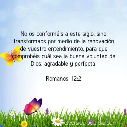 Imagen El versiculo del dia Romanos 12:2