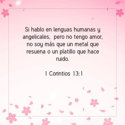 Imagen El versiculo del dia 1 Corintios 13:1
