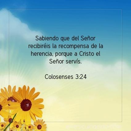Imagen El versiculo del dia Colosenses 3:24