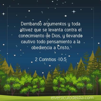 Imagen El versiculo del dia 2 Corintios 10:5