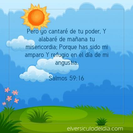 Imagen El versiculo del dia Salmos 59:16