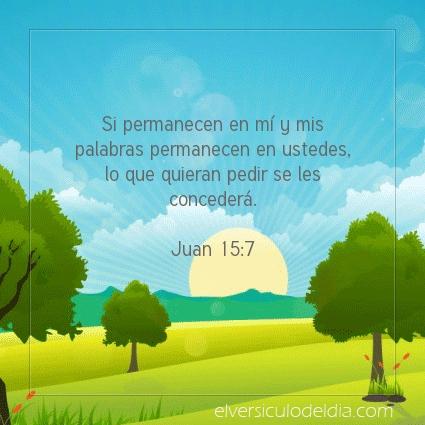 Imagen El versiculo del dia Juan 15:7