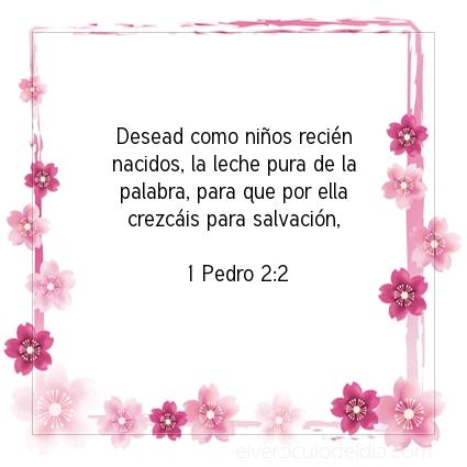 Imagen El versiculo del dia 1 Pedro 2:2
