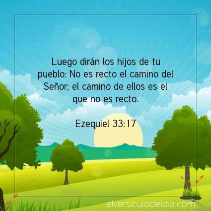 Imagen El versiculo del dia Ezequiel 33:17