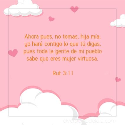 Imagen El versiculo del dia Rut 3:11