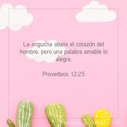 Imagen El versiculo del dia Proverbios 12:25