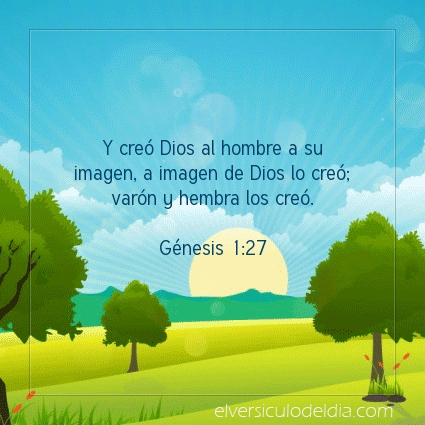 Imagen El versiculo del dia Génesis 1:27
