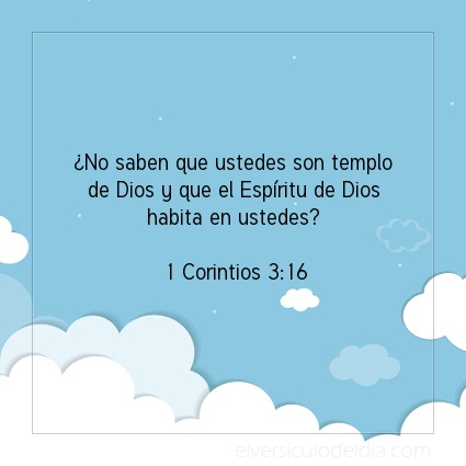 Imagen El versiculo del dia 1 Corintios 3:16