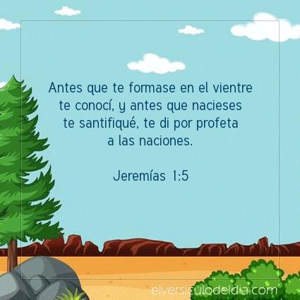 Imagen El versiculo del dia Jeremías 1:5