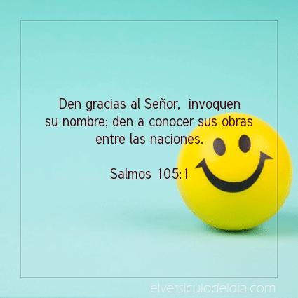 Imagen El versiculo del dia Salmos 105:1