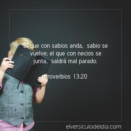 Imagen El versiculo del dia Proverbios 13:20