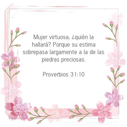 Imagen El versiculo del dia Proverbios 31:10