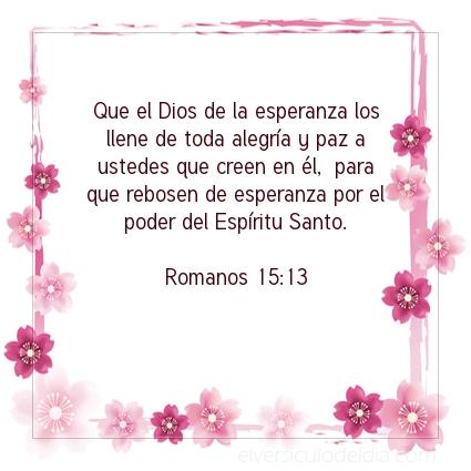 Imagen El versiculo del dia Romanos 15:13