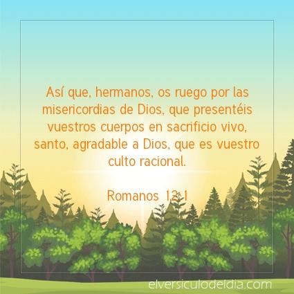 Imagen El versiculo del dia Romanos 12:1
