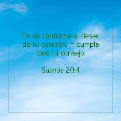 Imagen El versiculo del dia Salmos 20:4
