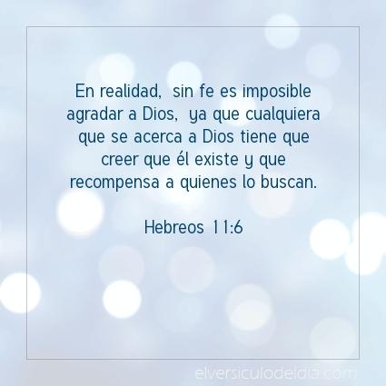 Imagen El versiculo del dia Hebreos 11:6